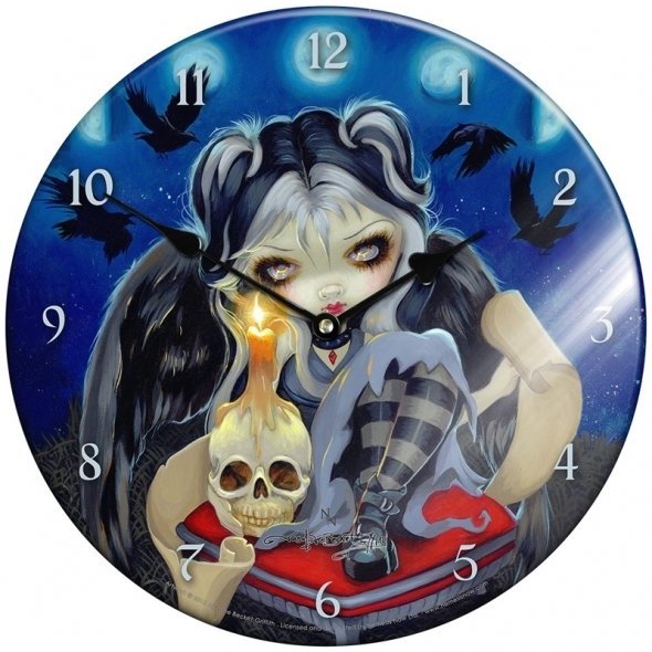 "Horloge en verre ""Sign Of Our Parting"" / Jasmine Becket-Griffith"
