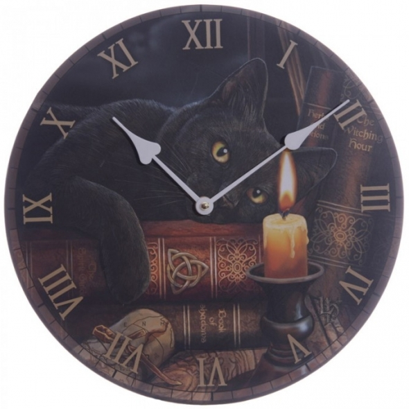"Horloge Chat ""Witching Hour"" / Lisa Parker"