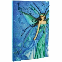plaque murale fée jessica galbreth Live your Dreams fairysite