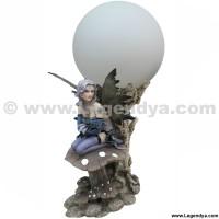 Champignon Fée Dragon Sur Lampe Avec Bleue MzGjqUpLVS