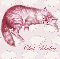 Magnet Chat Séverine Pineaux Chat-Mallow MAK005