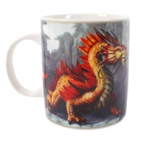 Mug Anne Stokes Golden Mountain Dragon