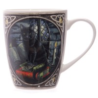 Mug Lisa Parker Black Cat and Books