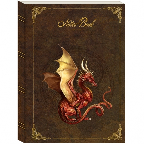 "Grand Notes-Book Luxe ""Dragon Rouge"" / Papeterie Féerique"