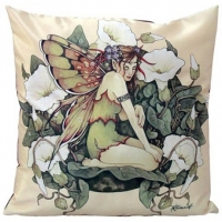coussin fée Linda Ravenscroft morning glory