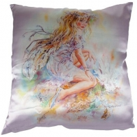 coussin fée crisalis Christine Haworth The Crystal Keeper