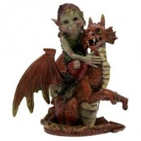 Figurine de Pixie avec Dragon