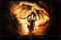 Poster Elian Black'Mor Dragon Feu
