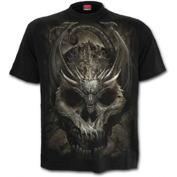 "T-Shirt Dragon ""Draco Skull"" - M / T-Shirts Dragons pour Hommes"