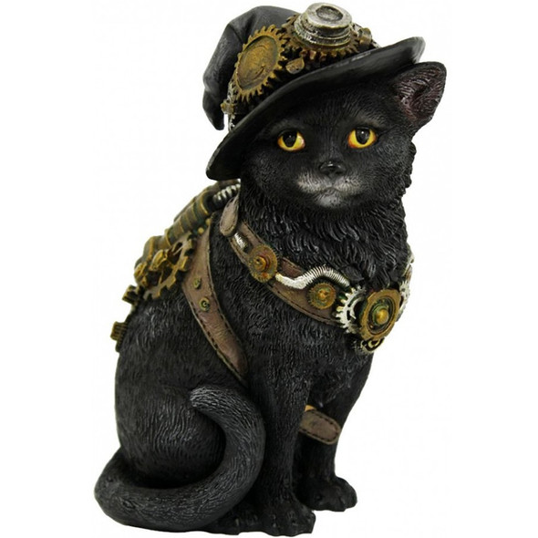 "Chat ""Clockwork Kitty"" / Figurines de Chats Féeriques"