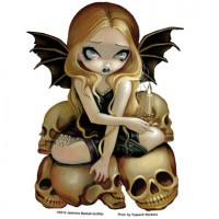 sticker fée Candle in the Dark de jasmine becket griffith