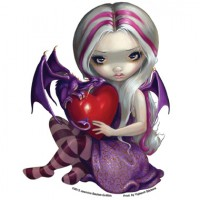 sticker fée Valentine Dragon Fairy de jasmine becket griffith