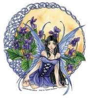 Sticker Fée Meredith Dillman Celtic Violet Fairy AD812