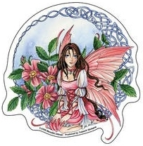 "Sticker Fée ""Celtic Wild Rose Fairy"" / Meredith Dillman"