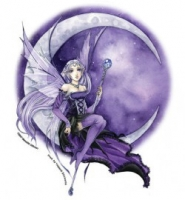Sticker Fée Meredith Dillman Purple Moon Fairy AD974