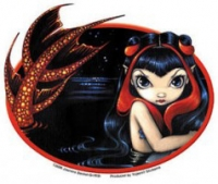 Sticker Sirène Jasmine Becket Griffith Red Tailed Mermaid AD808