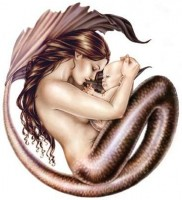 sticker sirene mermaid baby de selina fenech