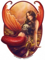 Sticker Sirène Selina Fenech Pirate Mermaid AD978