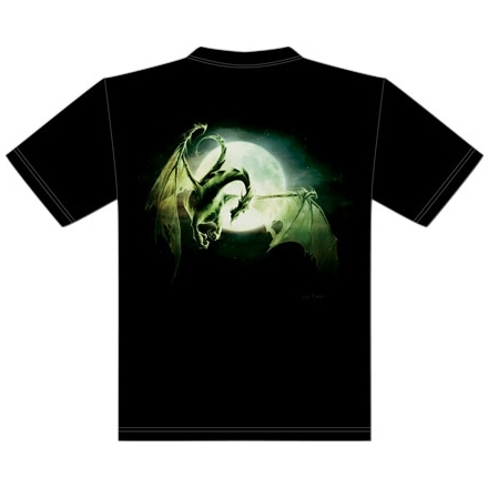T-Shirt Dragon Lune - S / T-Shirts Dragons pour Hommes