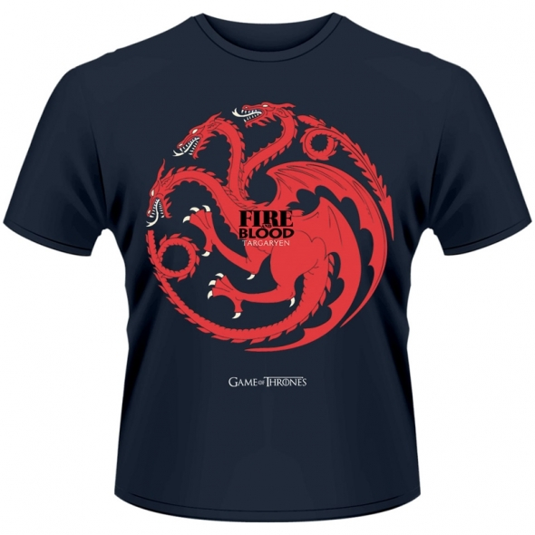 "T-Shirt Game of Thrones ""Fire and Blood"" - L / Game of Thrones"