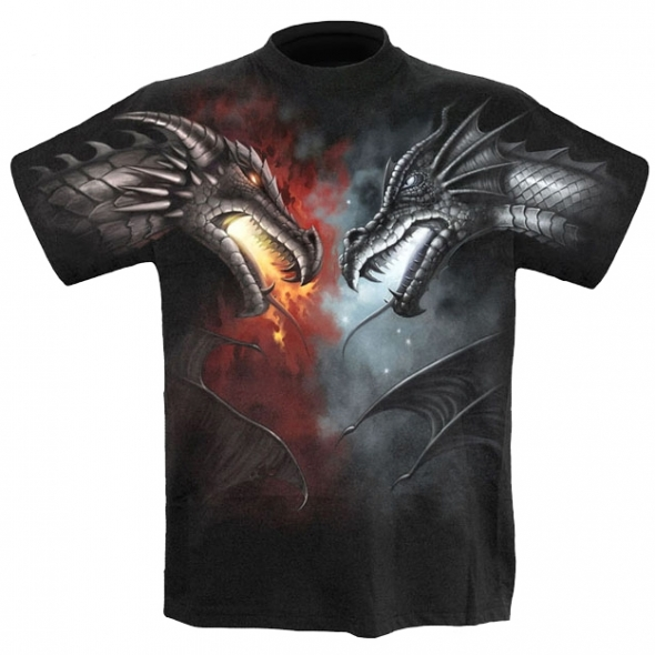 "T-Shirt Dragons ""Dragon Battle"" - XXL / T-Shirts Dragons pour Hommes"
