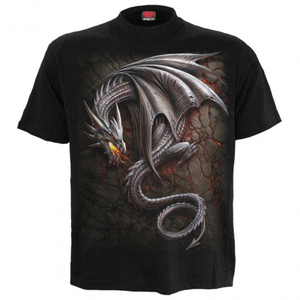 "T-Shirt Dragon ""Obsidian"" - S / Vêtements - Taille S"