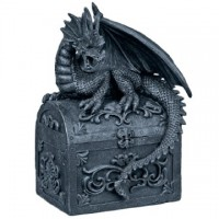 Tirelire Dragon sur coffre