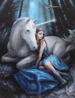 Anne Stokes toile sur chassis Blue Moon