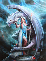 Anne Stokes toile sur chassis Dragon Mage
