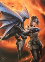 Anne Stokes toile sur chassis Dragon Trainer