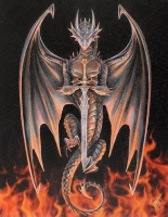 Anne Stokes toile sur chassis Dragon Warrior