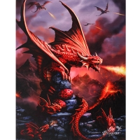Anne Stokes toile sur chassis Fire Dragon