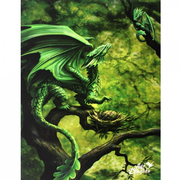 "Toile sur chassis ""Forest Dragon"" / Décorations Murales Dragons"
