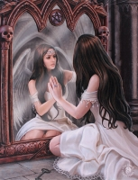 Anne Stokes toile sur chassis Magic Mirror