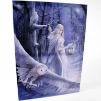 Anne Stokes toile sur chassis Géante Midnight Messenger