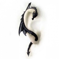 tour d'oreille Dragon noir Alchemy Gothic E274B