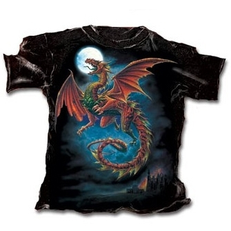 "T-Shirt Dragon ""The Whitby Wyrm"" - XL / T-Shirts Dragons pour Hommes"