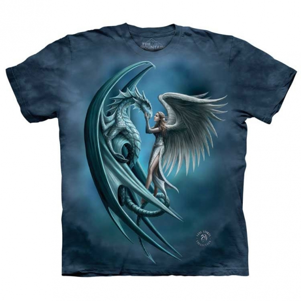 "T-Shirt Ange et Dragon ""Silver Back"" - XL / Vêtements - Taille XL"