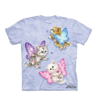 t-shirt the mountain enfant Butterfly Kitten Fairies
