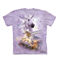 t-shirt the mountain enfant Double Rainbow Unicorn