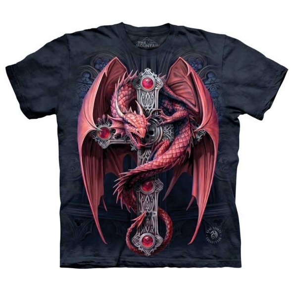 "T-Shirt Dragon ""Gothic Guardian"" - XL / T-Shirts Dragons pour Hommes"