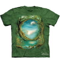 t-shirt the mountain moon tree