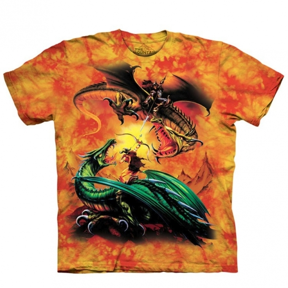 "T-Shirt Dragons ""The Duel"" - XXL / T-Shirts Dragons pour Hommes"