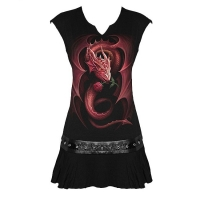 spiral direct red rose dragon tunique