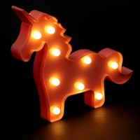 Veilleuse Licorne LED Rose