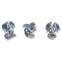 Mini figurines de Dragon Bleu en armure
