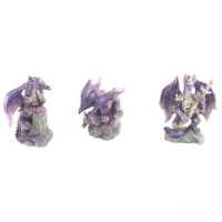 Mini figurines de Dragon Violet en armure