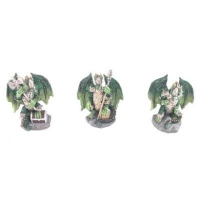 Mini figurines de Dragon Vert en armure